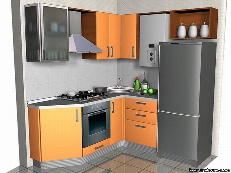 Дизайн кухни с размерами