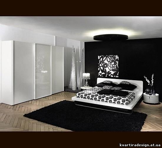 Дизайн черных спален