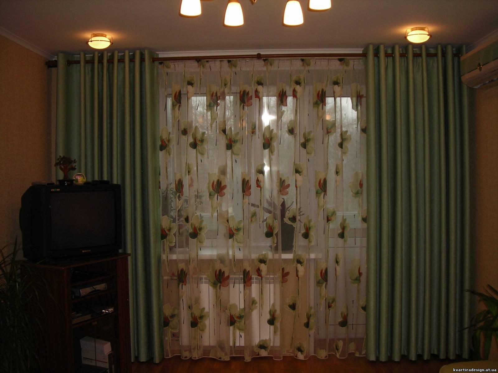 Дизайн окна в зале фото