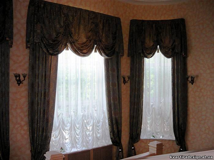 Стильные шторы для кухни фото.