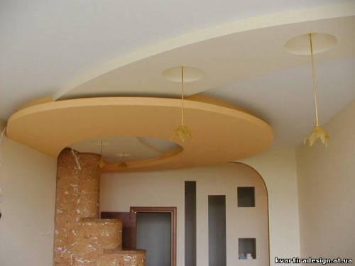 зал подвесные потолки